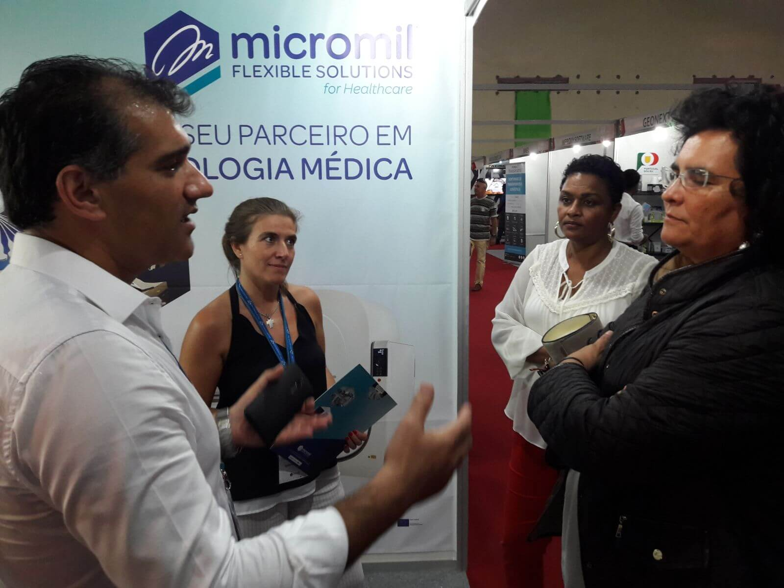 Stand Micromil na FIC micromil Micromil na Feira Internacional de Cabo Verde micromil fic novembro