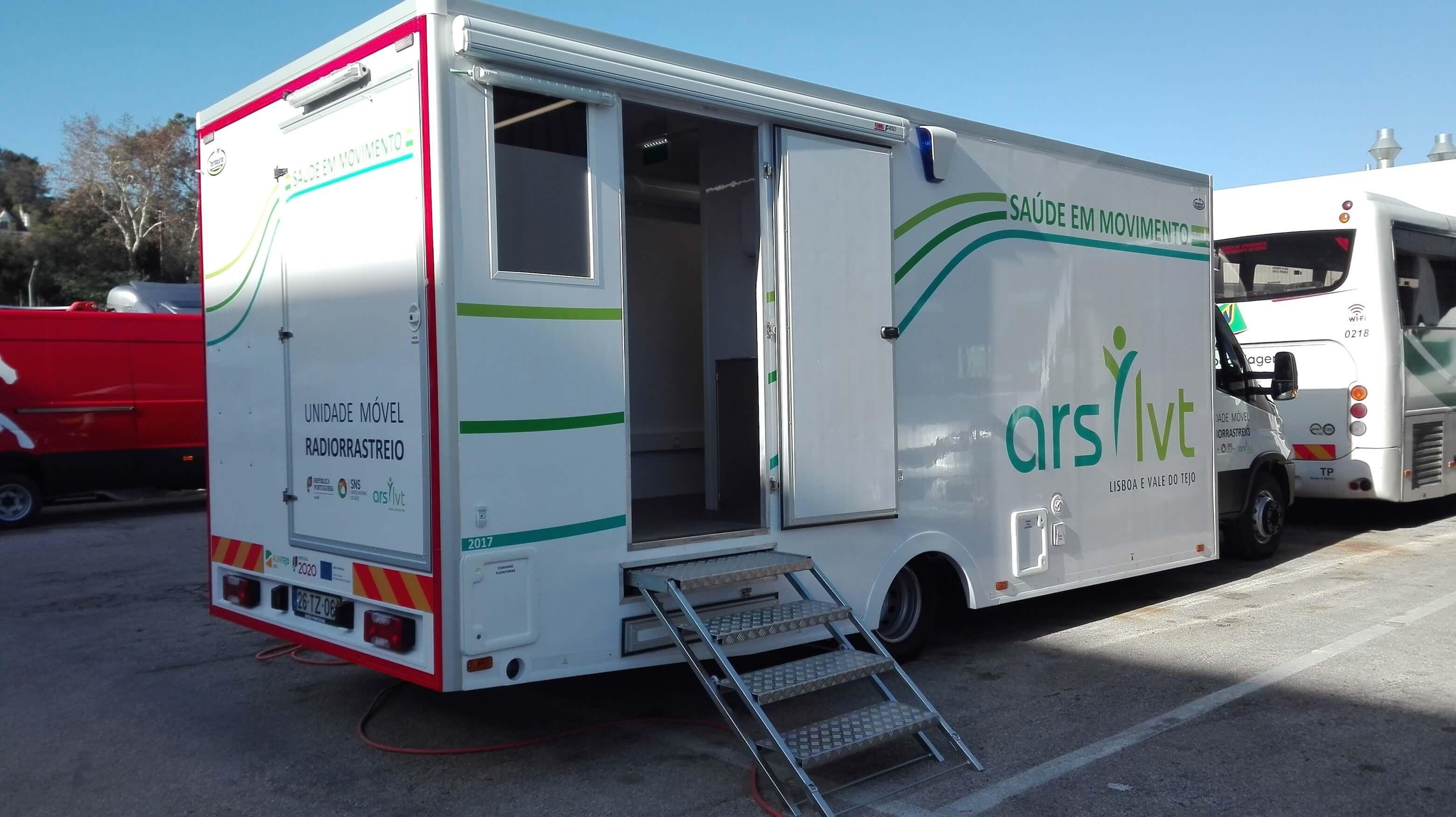 Inauguração UMR, uma instalação Micromil unidade móvel de radiorrastreio Unidade Móvel de Radiorrastreio, instalada pela Micromil, inaugurada equipamento rx em unidade movel ars lvt