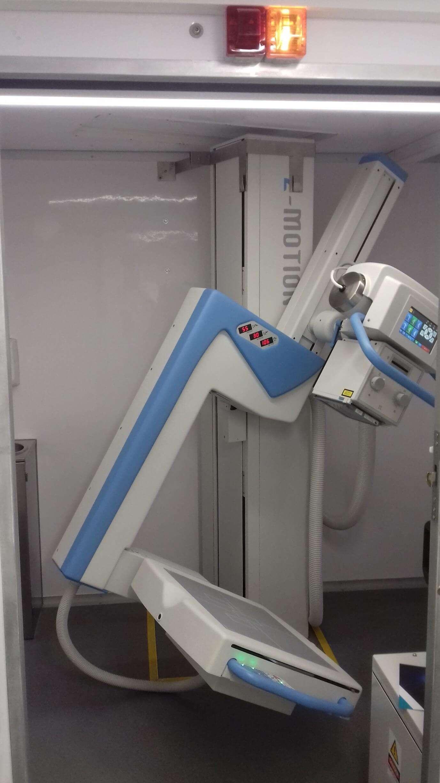 Equipamentos de RX, instalado pela Micromil unidade móvel de radiorrastreio Unidade Móvel de Radiorrastreio, instalada pela Micromil, inaugurada equipamento rx unidade ars lvt
