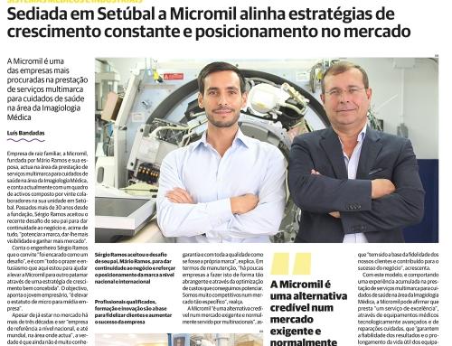 Micromil na Imprensa – A Micromil está hoje em destaque no jornal O Setubalense